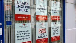 Evening Classes Sign